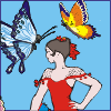 Dancer With Butterflies